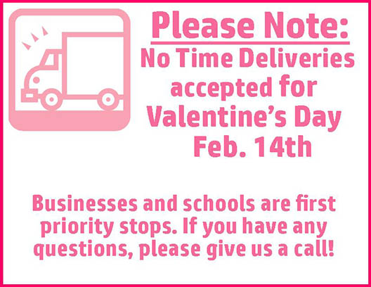 Time Delivery Notice - Dill's Floral Haven