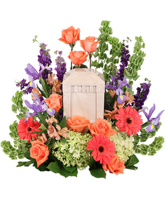 Never Gone Cremation Design from Dill's Floral Haven, local florist in Belleville, IL