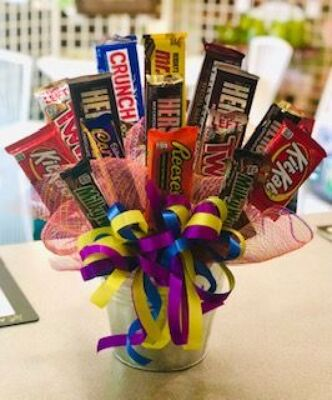 Dill's Bucket O'Chocolate Candy Bouquet from Dill's Floral Haven, local florist in Belleville, IL