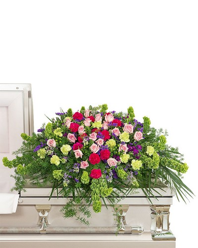 Always Remembered Casket Spray from Dill's Floral Haven, local florist in Belleville, IL