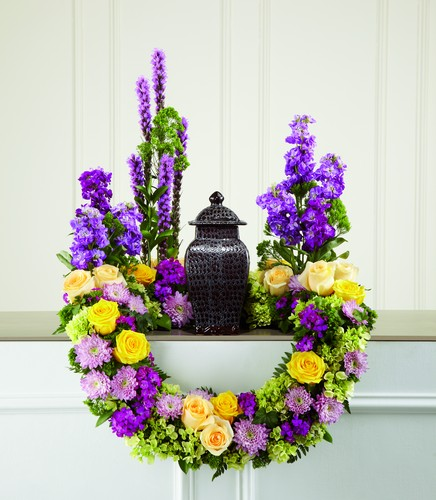 Garden of Grace Cremation Arrangement from Dill's Floral Haven, local florist in Belleville, IL