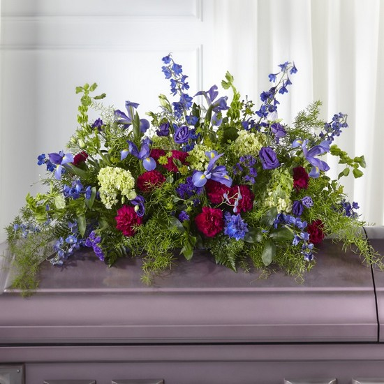 The FTD Always Treasured Casket Spray from Dill's Floral Haven, local florist in Belleville, IL